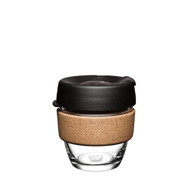 KeepCup Reusable Brew Cup Cork Small: Black
