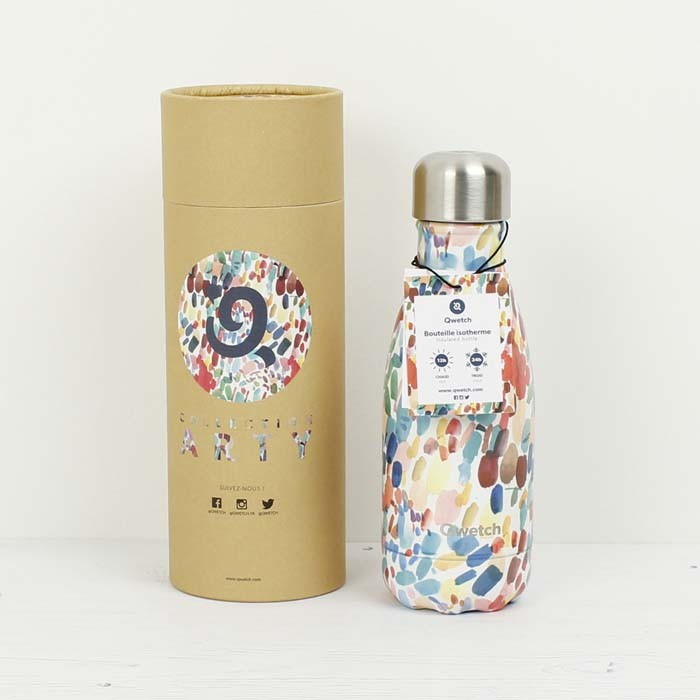 Qwetch x Lou Ripoll  small insulated reusable  bottle ARTY
