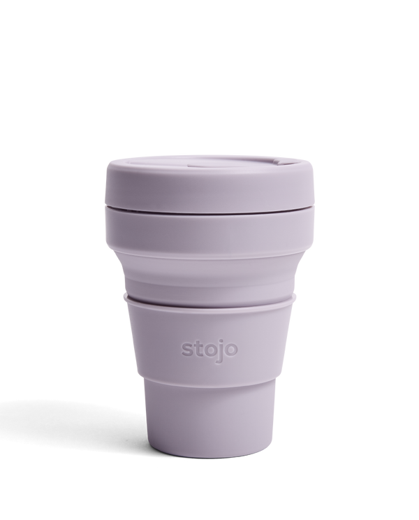 Stojo Pastels 12oz Collapsible Reusable Cup: Lilac