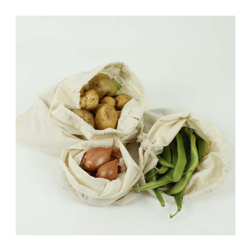 Organic Cotton Produce Bags - 3 pack
