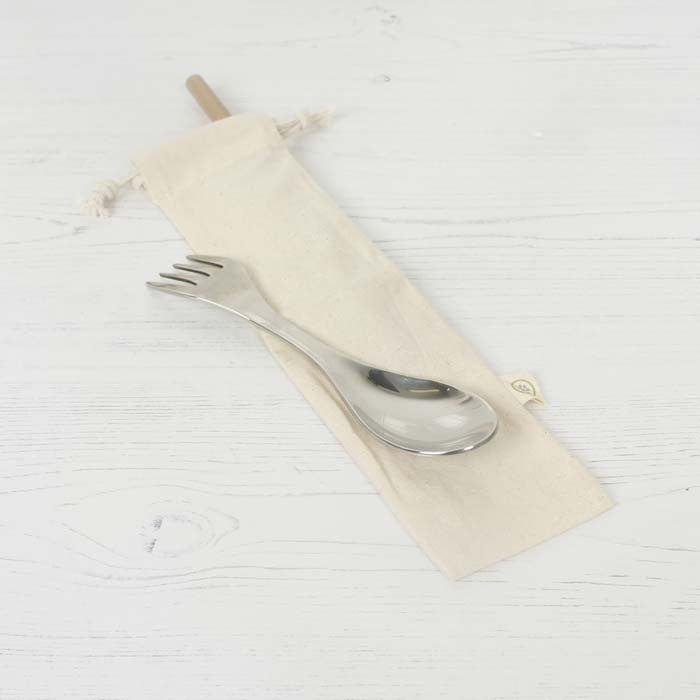 A Slice of Green Organic Cotton Reusable Straw/Cutlery Bag