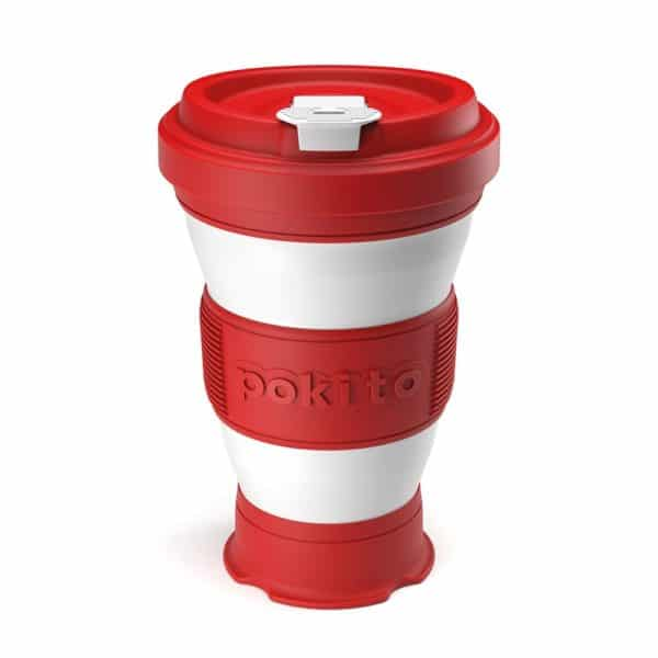 Pokito Collapsible Reusable Cup: Cherry Red