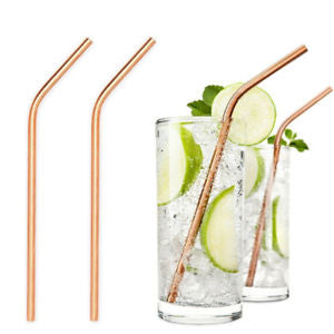 Special Edition Gold Stainless Steel Drinking Straws