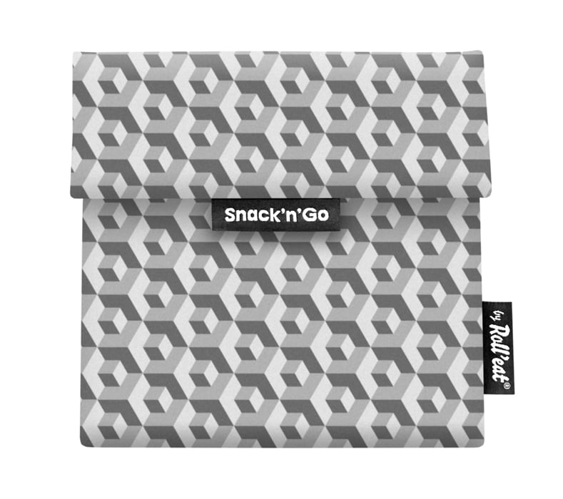 Snack 'n' Go Reusable Snack Bag: Tiles Black
