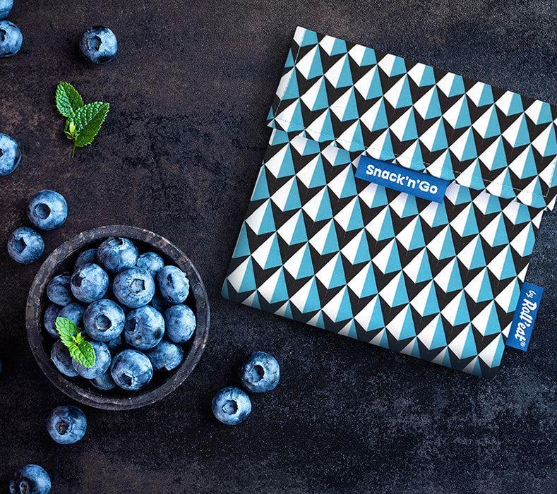 Snack 'n' Go Reusable Snack Bag: Tiles Blue