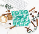 Snack 'n' go Reusable Snack Bag: Tiles Green