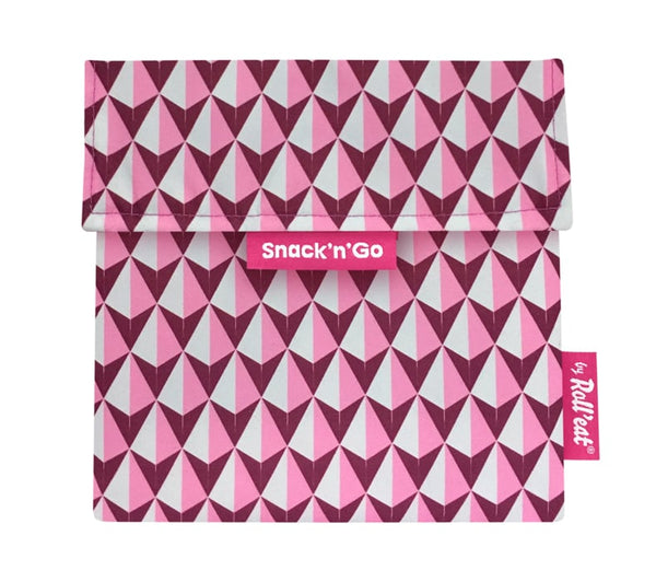 Snack 'n' go Snack Bag: Tiles Pink