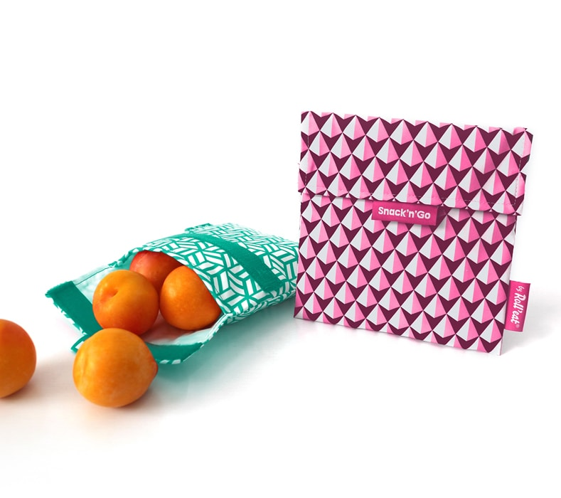 Snack 'n' Go Reusable Snack Bag: Tiles Pink