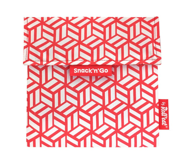 Snack 'n' Go Reusable Snack Bag: Tiles Red