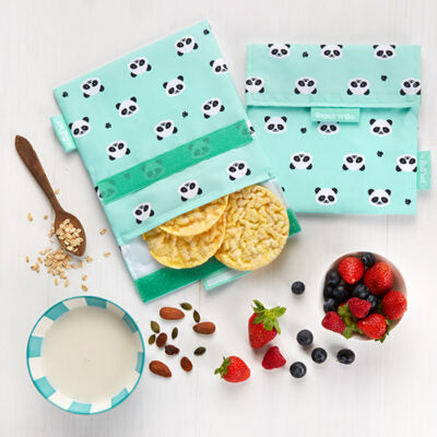 Snack 'n' Go Reusable Snack Bag: Panda