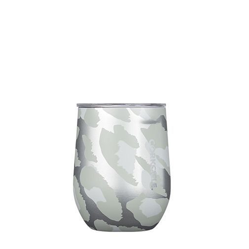 Corkcicle Reusable Stemless Cup: Snow Leopard