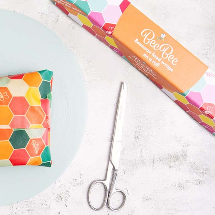 Reusable BeeBee & Leaf  Vegan Wrap on a roll - Honeycomb