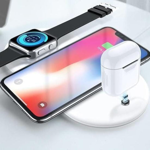 3 In 1 Stand iPhone Airpods Apple Watch Dock Charging Station iPhone 8 X XS Max XR 8 Plus for Samsung S9 S8 S7 for Apple Watch 1/2/3/4