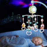 Staulino Baby Crib Musical Mobile Blue Baby Crib Musical Mobile With Projector