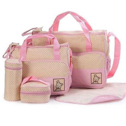 Baby Diaper Bag Set Moms Maternity Mother Baby Bottle Holder Travel