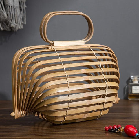 Staulino Top-Handle Bags Burlywood Bailey Bamboo Handbag
