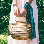Bamboo Handbag Purse Handmade Natural One Size