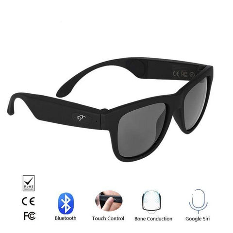Staulino Bone Conduction Glasses Black Frame/Black Lens BoneDio™ Bone Conduction Glasses