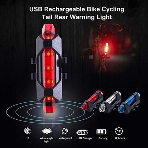 Staulino Bicycle Safety LED Tail Light Red Bicycle Safety LED Tail Light