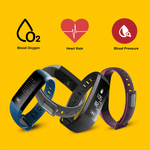 Blood Pressure Smart Watch Heart Rate Monitor Unisex Black