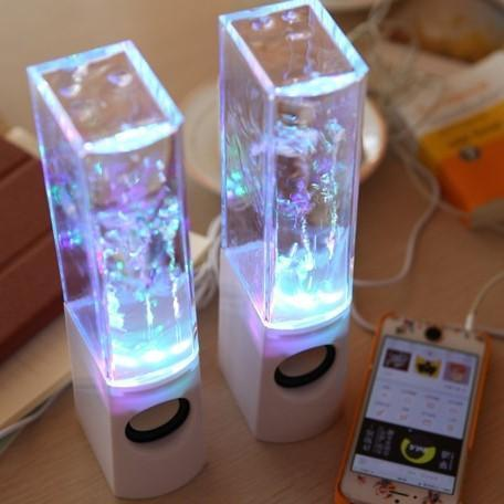 Dancing Water Speakers 2PCS LED Light Music Fountain