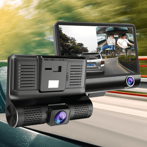 Dash Cam With Screen Car Camera 4 Inch Video Recorder Front Rear