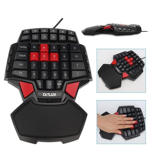 One Handed Keyboard Mechanical Ergonomic Gaming PC USB