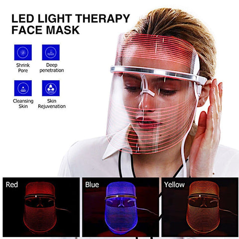 LED Light Therapy Mask Face Wrinkle Massage Acne Photo Therapy
