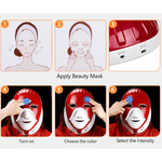 Staulino DermaLight™ LED Light Therapy Face/Neck Mask DermaLuminate™ LED Light Therapy Face/Neck Mask