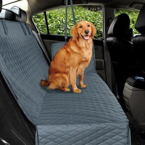 Dog Car Seat Cover Waterproof Pet Hammock Back Seat Protector Truck Mesh Grey Black