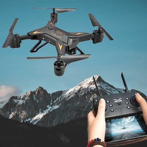 Staulino Drone With HD Camera Black/No Camera FlyQuad™ Professional Drone With HD 1080P Camera