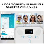 Bluetooth Smart Scale App Weight BMI Body Fat Connects to Phone