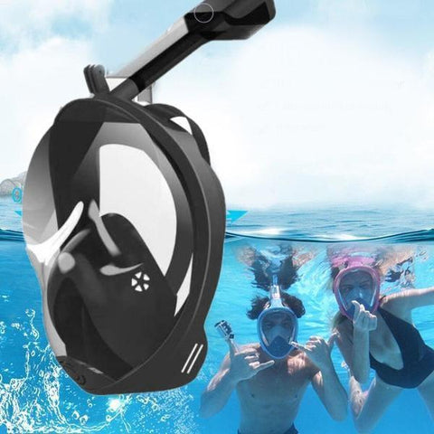 Staulino Full Face Snorkel Mask Black / L/XL Full Face Snorkel Mask