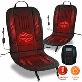 Staulino Heated Car Seat Cover 12V Cushion Electric Warmer Plug in Pad Truck HeatBoost™ Heated Car Seat Cushion Cover