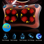Heated Massage Pillow Cushion Pain Sore Neck Back Waist