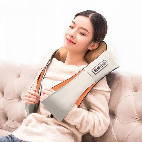 Staulino Massage & Relaxation Beige Heated Neck And Shoulder Massager