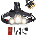 Staulino LED Headlamp Rechargeable Gold Lampr™ The LED Headlamp 15000LM