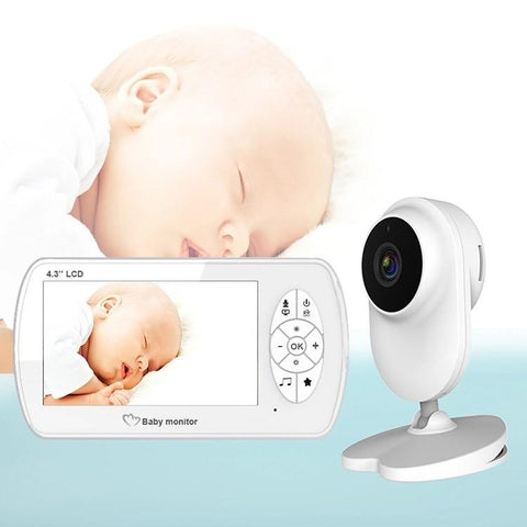 "Staulino Baby Camera Monitor 4.3"" Infrared Vision Wireless 2-Way Audio Temperature Monitoring LULO™ Premium Baby Camera Monitor 4.3"" With Temperature Monitoring"