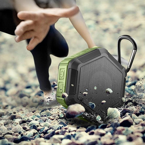 Clip On Bluetooth Speaker Mini Portable Waterproof Wireless Hexagon