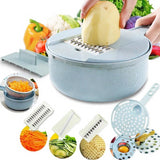 8-in-1 Vegetable Slicer Easy Cutter Kitchen Carrot Onion Peeler