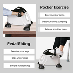 Staulino Mini Exercise Bike With LCD Display - Under Desk Bike Cycle MiraCycle™ Portable Pedal Exerciser PRO