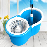 Staulino Spin Mop 360° With Bucket Microfiber Heads Kitchen Bathroom Floor MopSy™ Spin Mop 360° with Bucket + 2 Microfiber Heads