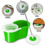Staulino Spin Mop 360° With Bucket Microfiber Heads Kitchen Bathroom Floor MopVe™ Spin Mop 360° with Bucket + 2 Microfiber Heads