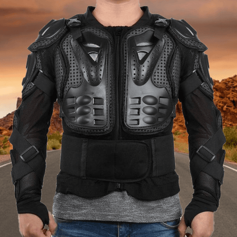 Motorcycle Body Armor Protective Vest Chest Gear Jacket Back