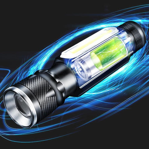 Multifunctional Flashlight USB Charged Waterproof Rechargeable Zoomable