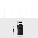 Staulino 4 Panel Size Chart Paky™ Unisex PRO Heated Vest + Free Power Bank (N)