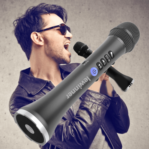 Bluetooth Wireless Karaoke Microphone Handheld Speaker Light Portable Professional