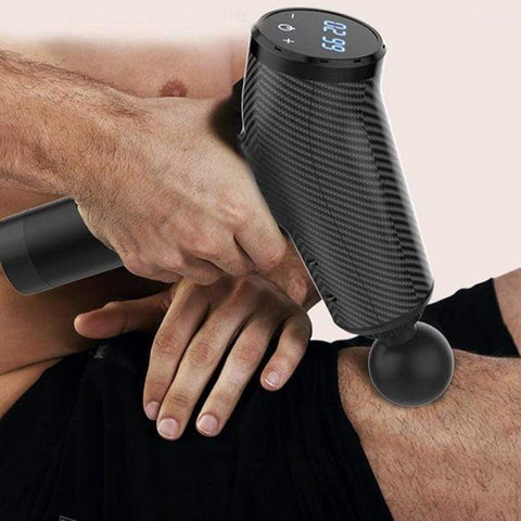 Staulino Massage Gun For Muscles Rechargeable Percussion Vibration 6 Heads And Bag Cordless Restso™ Muscle Massage Gun Pro