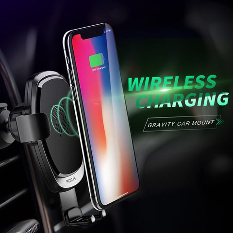 Wireless Car Charger Phone Mount Fast Automatic Qi iPhone Android