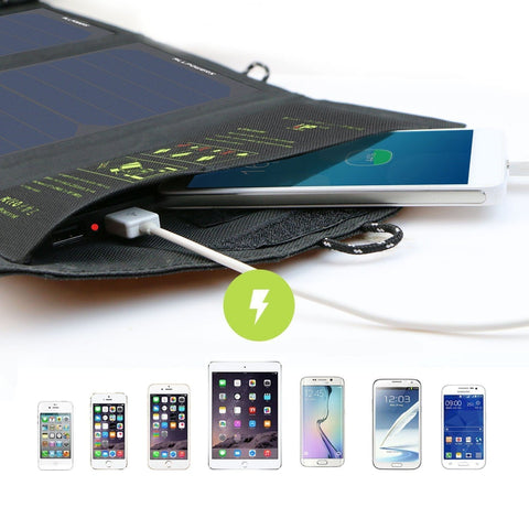 Solar Portable Charger Phone Bank USB Power Battery